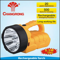Hot selling 12V most powerful led rechargeable flashlight torch