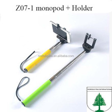 extendable hand held colorful flexible seflie stick for iphone 6