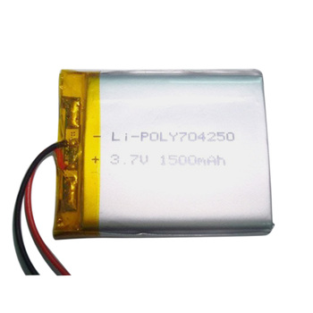 Rechargeable 704250 3.7V 1500mAh lithium ion polymer battery
