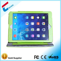 Stylish top quality carry handles case for ipad air with leather wrap , fashinable design leather case for ipad air