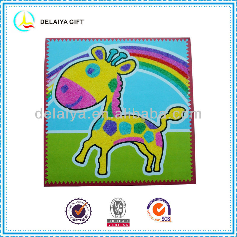 DIY Sand art/sand sticker as educational toy for children