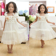 Wholesale baby petti lace birthday dress for girls 1 years old