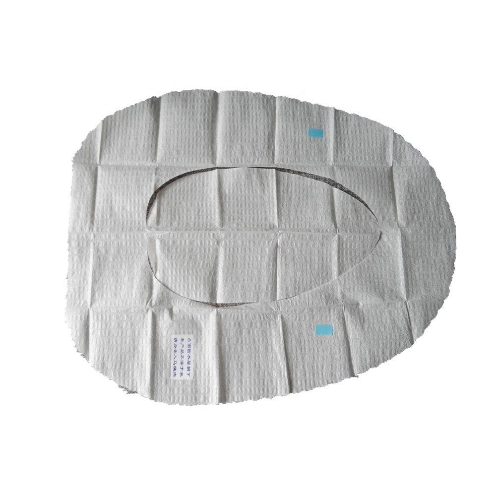 Waterproof Two Layers Toilet Seat Paper Cover With PE Film Custom Made Package Own Logo Printed