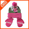 2014 Hot Sale Custom Sublimation Knitted Winter Scarf, Hat & Glove Sets