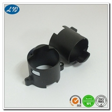 China factory ISO high precision aluminum cnc machining parts with black anodized for UPV/airplane