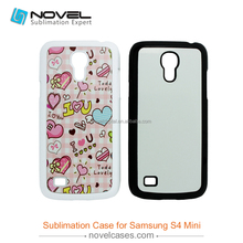 Sublimation plastic cover 2D pc case for Samsung S4 mini
