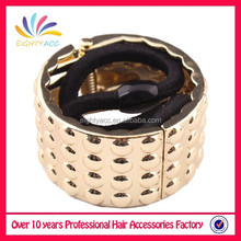 Fashion hair accessories pony tail ring on elastic hair band.