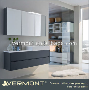 Melamine Modern Bathroom Cabinet Vermont-Bathroom Design Bathroom Vanity Cabinets