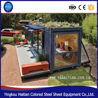 High quality ready made Flat pack best selling hotel prefabricated cheap container modular prefab house office