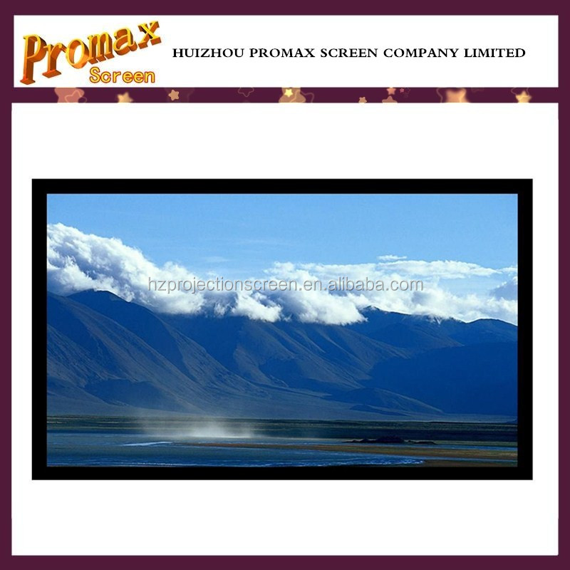 3d perforated silver screen fixed frame 120'' 16:9 projector screen