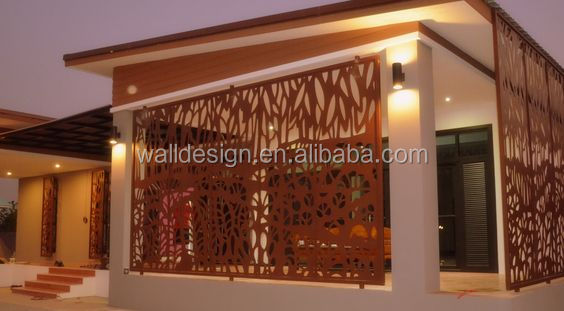 garden corten steel fence made in china