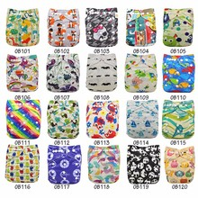 Reusable Nappies Couche Lavable Piscine Adjustable One Size Designer Newborn Pocket Diapers Cover