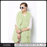 China Garments Factory Wool Whole Skin Fur Coats