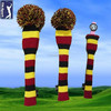 Wool knitted cute golf club head covers
