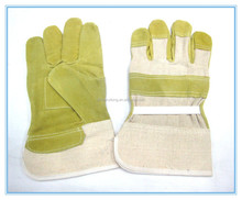 new design Heavy duty industrial leather work hand gloves