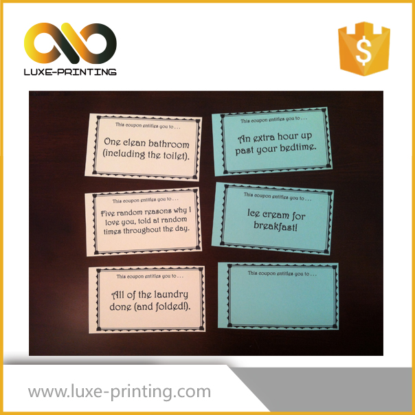 Cheap Coupon Book Printing Wholesale