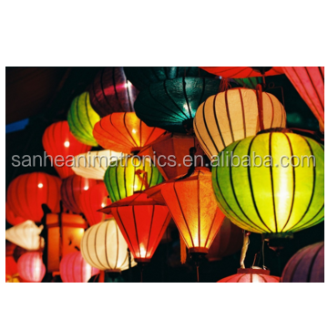 Chinese lantern vietnamese market( hoi an ) decorative led silk lantern