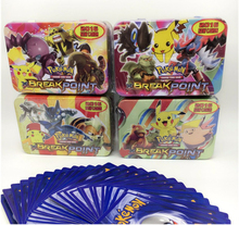 2016 New Cards 42PCS/SET Pokemon Cards Game English Anime Pokemon Cards With Metal Box Best Toy For Children