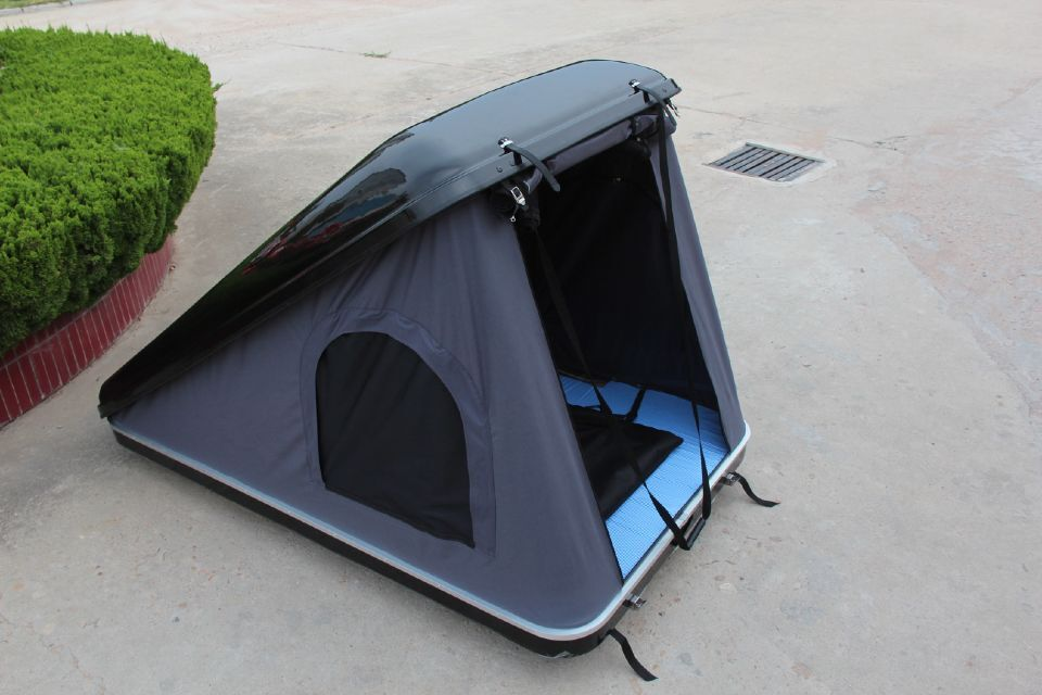 One Side Open fiberglass car roof top tent Hard Shell Roof Top Tent for Car