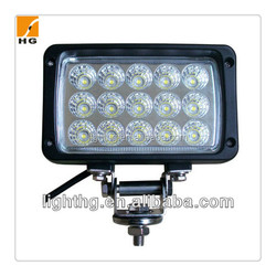 6.3inch 45w rectangle led work light car accessories for ATV truck offroad