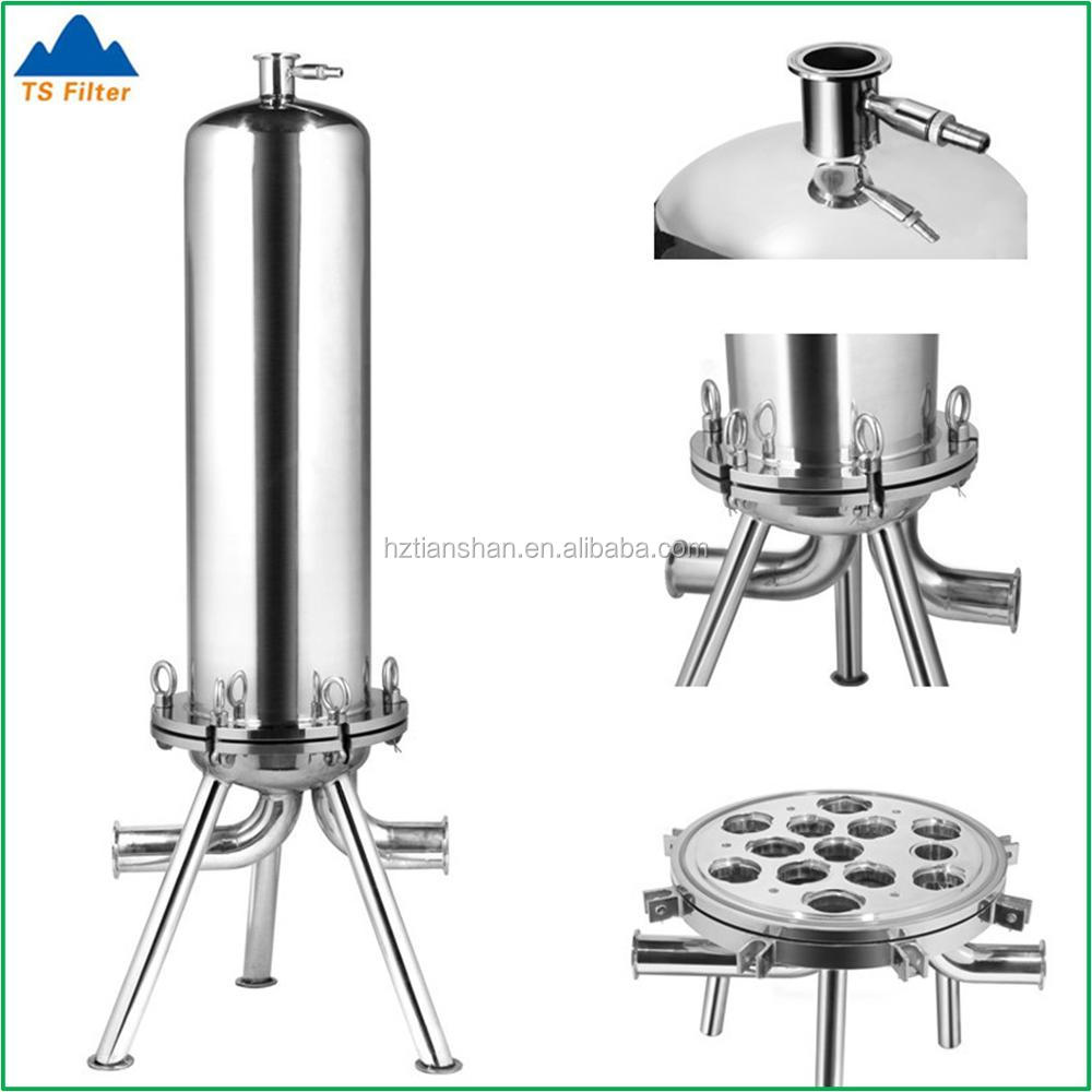 316 Stainless Steel Filter Cartridge Housing For Wine Filtration Machine