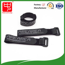 Printed logo hook loop cable ties