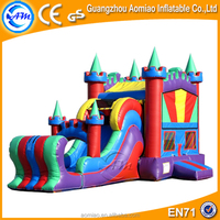 New design colorful cheap bounce houses,inflatable jumping bouncer with slide