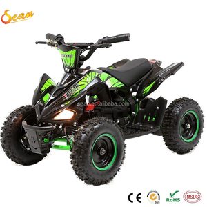 Newest kids ride electric powered quad atv bike 4x4