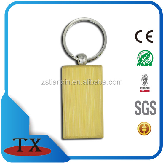 top quality key holder promotional blank custom wooden keychain