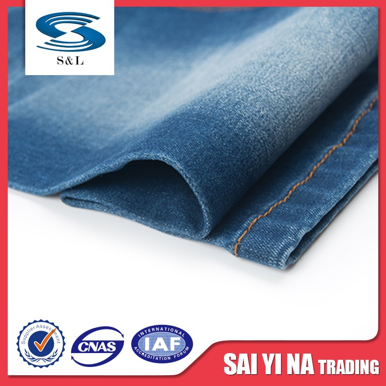 Wholesale fashionable latest organic cotton denim fabrics in many style