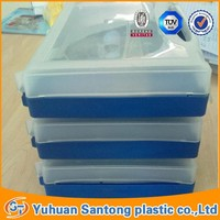 PP square blue plastic cover pill Box