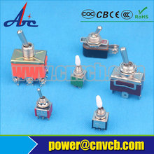3A 110V ON-ON SPST Solder Terminal Copper Contact 4PIN Orange Color Auto Carling Toggle Switch