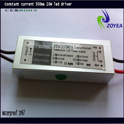 HIGH RELIABILITY 6w led driver waterproof DIMMABLE constant current 30-36V 300mA 10W IP67