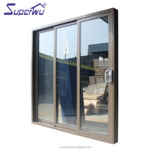 Miami Dade county Laminated toughened glass sliding aluminium stacking thermal or non-thermal break sliding door
