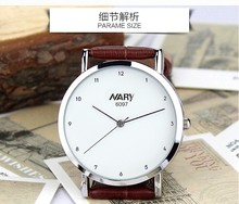 Wholesale Vogue Mens And Women Simple Charm Watch Digital Rome Waterproof Vintage Leather wh1073