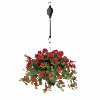 Amazon Hot Sale Adjustable Plastic Easy Reach Plant Pulley For Hanging Baskets Bird Feeders Raise Lower