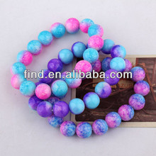 silicone with charm black bead bracelet