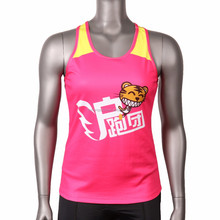 Good quality 100% polyester comfortable fit custom sports vest woman