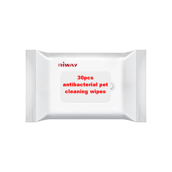 30pcs antibacterial pet cleaning wipes