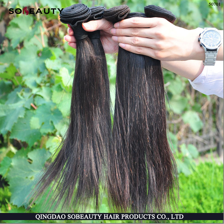 2015 Hot Sale Full cuticle double weft the best quality wholesale hair extension from russia