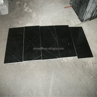 Polished Chinese Cheap Nero Marquina Black Marble