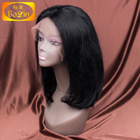 Indian straight for black woman gluless wig cap full lace wig with baby hair