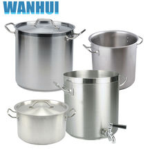 Large Loading Packing Heavy Duty Commercial Stainless Steel 304 Big Stock Pot