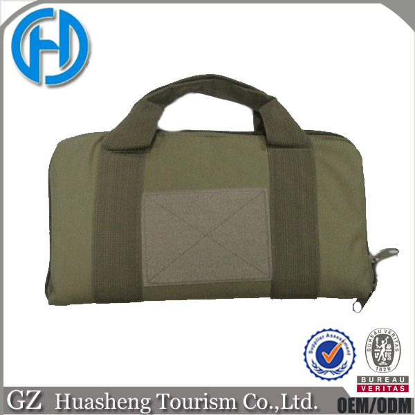 Army green hand carrying military pistol case