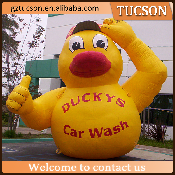 2016 hot sale large inflatable promotional duck model for advertisement