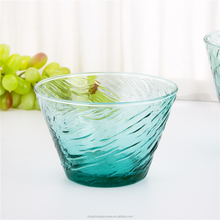 Best Selling Fancy Glass Fruit Bowl Blue5 Pcs Glass Bowl Set