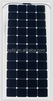 20% efficiency 135W 12V USA sun power flexible panel solar for boats, caravans, launch & mobile homes use with CE