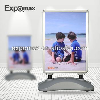 Outdoor Water Base Poster Stand, Acrylic Poster Board Display Stand