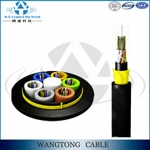 Free from electric for electricity aramid yarn adss 24 core fiber optic cable