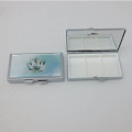 Popularly priced rectangle simple metal wallet pill box